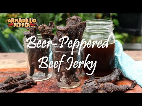How to Make Beef Jerky in the Masterbuilt Smoker | Beer-Peppered Jerky Recipe