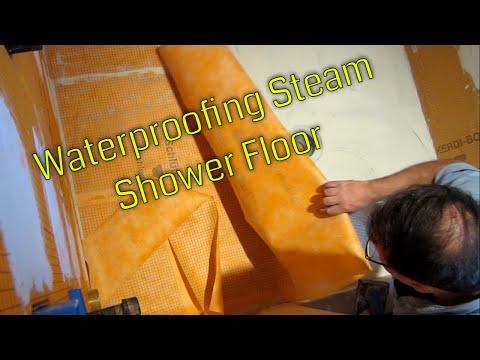 Steam Shower Part 3 Waterproofing Floor Kerdi Membrane  Schluter Systems