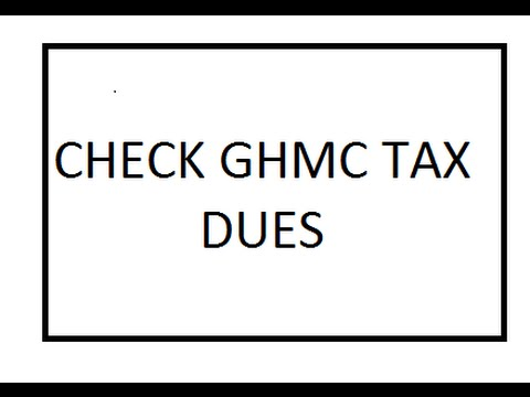 CHECK GHMC PROPERTY TAX DUES