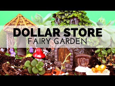 How to Make a Dollar Store Fairy Garden