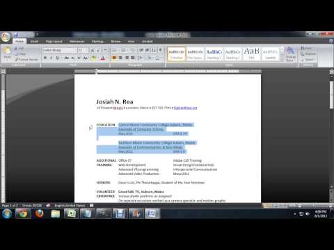 How to Use Microsoft Word to Set Up a Resume : Tech Niche