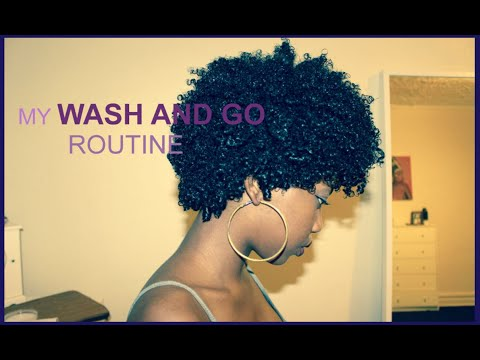WASH AND GO ON NATURAL HAIR| SHEA MOISTURE AND ECO STYLER GEL (super quick, super simple)
