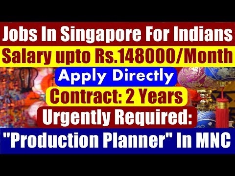 Jobs In Singapore For Indians: