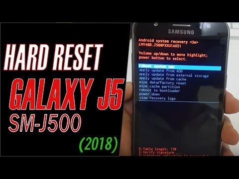 Samsung Galaxy J5 Hard Reset [Step By Step Video 2018..!]