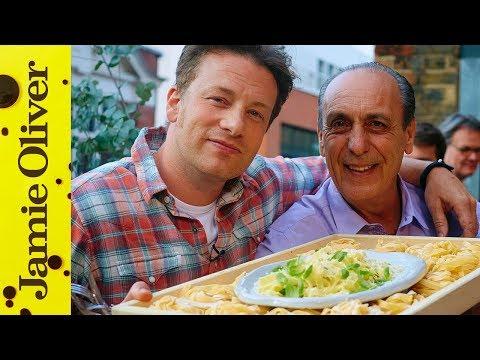 Jamie & Gennaro's Lemon & Basil Fettuccine   Food Tube Live