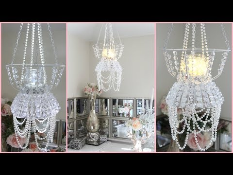 DOLLAR TREE CHANDELIER ROOM DECOR DIY