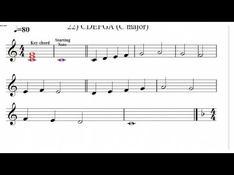 Sight-singing 1. Test that every musician should be able to read