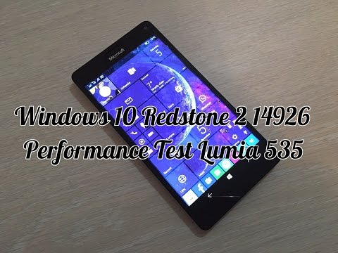 Windows 10 Redstone 2 14926 Performance Test | Lumia 535 vs Xiaomi Redmi Note 4G