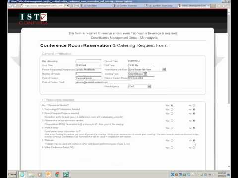 Confirm Reservation Form for CMG MN