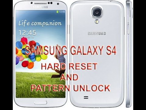 How To Reset A Galaxy S4 - Pattern Unlock - SAMSUNG