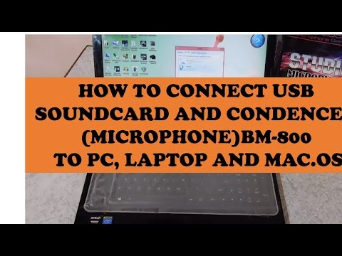 HOW TO CONNECT BM-800 CONDENSER STUDIO MICROPHONE TO PC AND LAPTOPS WITH SOUNDCARD.