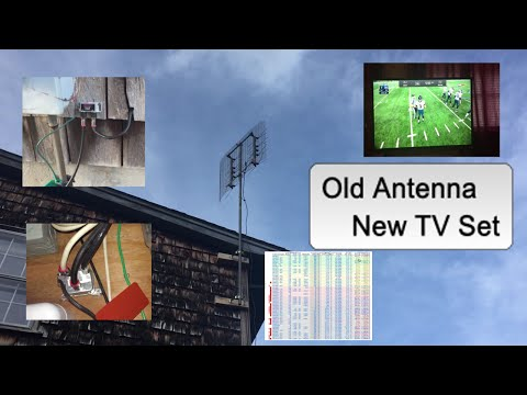 Old OTA TV Antenna with New TV Set Works