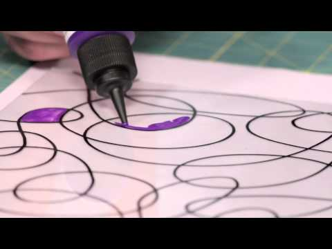 How to Make Stained Glass Squiggle Art with Mark Montano and Deco Art