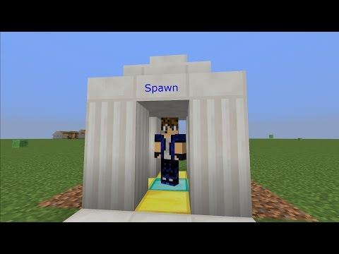 How to spawn on one block every time, for servers and maps!