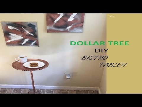 DIY DOLLAR TREE Side Table!! Fall Decor!!