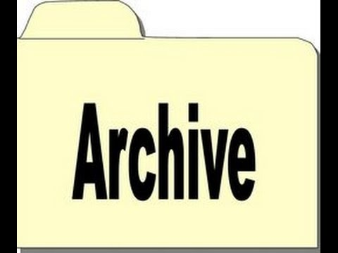 How to create Archive folder and move mails in Archive folder in Outlook 2010