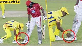 Bravo tied Gayle shoe laces : CSK Vs KXIP Match Highlights | IPL 2018 | Dhoni