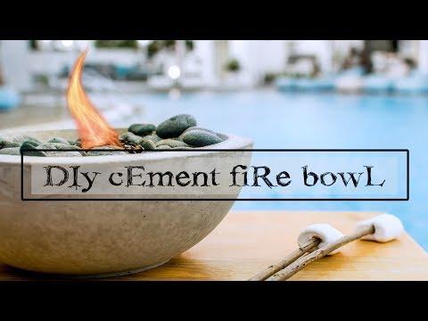 DIY CONCRETE FIRE BOWL - Garden Decor - life hacks