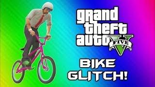GTA 5 Flying Bike Glitch! - World Record, BMX Wins & Fails (GTA 5 Online Funny Moments Gameplay)
