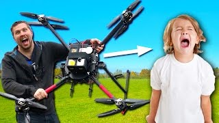This $15,000 Drone Could Drop Test Your Annoying 8-Year-Old Brother!!