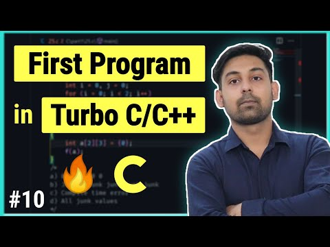 #7 Compile & Run First Program In Turbo C, Full Details In (Hindi) By Nirbhay Kaushik