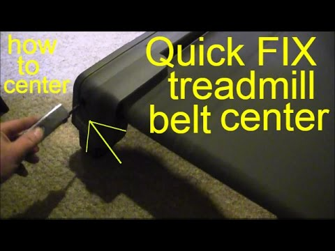 how to center treadmill belt
