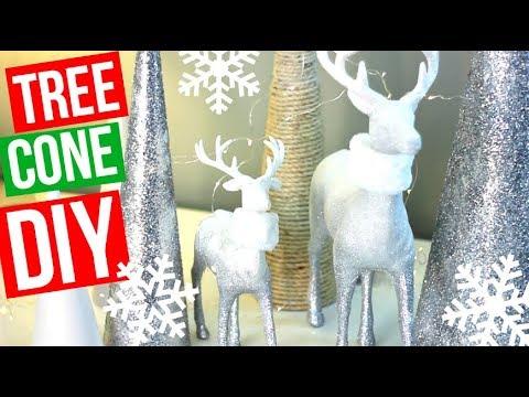 TREE CONE DIY | Christmas Decor | Easy + Affordable!