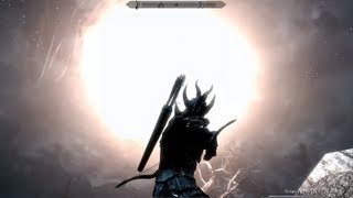 Skyrim Gameplay - Shooting a Dragon out the Sky