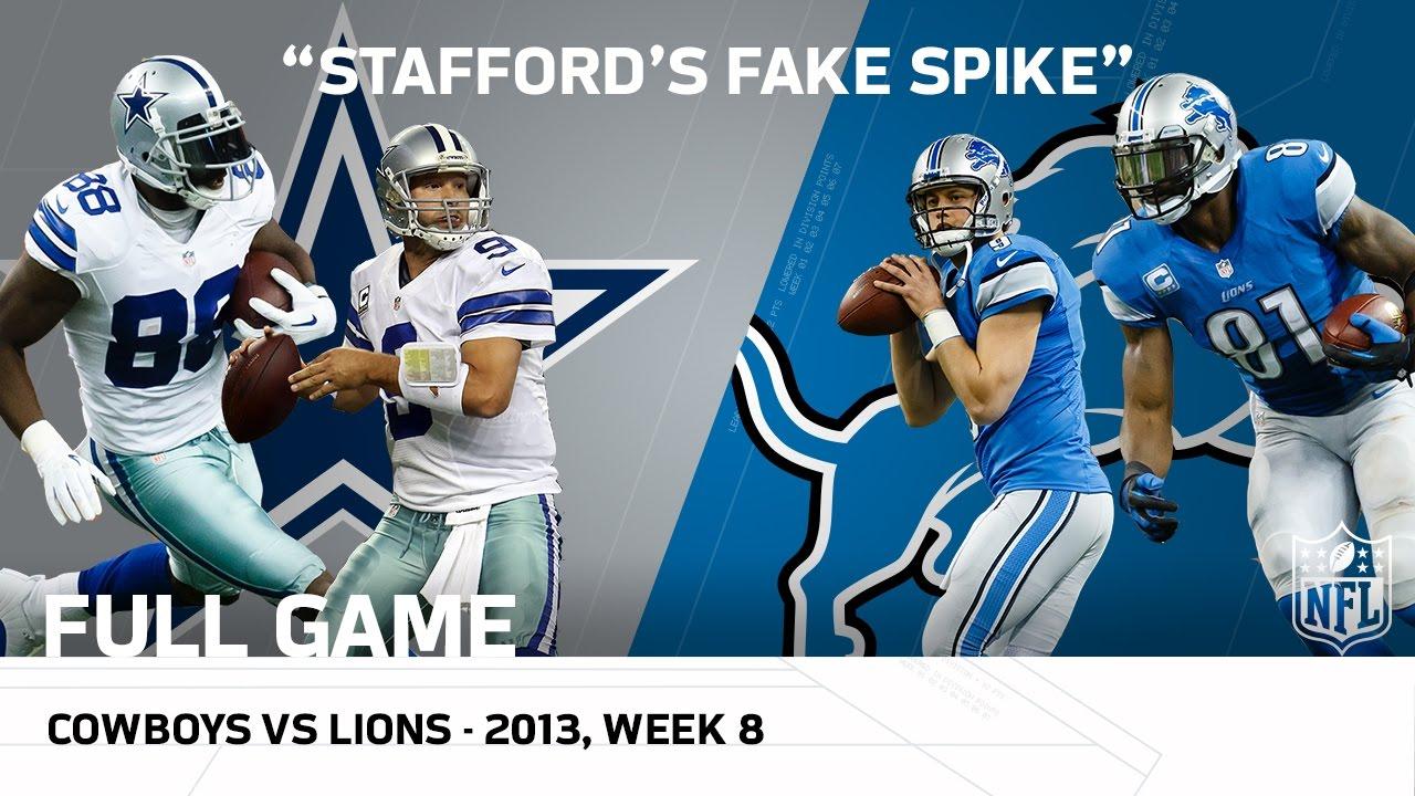 Stafford's Fake Spike & Calvin's 329-Yard Game | Cowboys vs. Lions (Week 8, 2013) | NFL Full Game