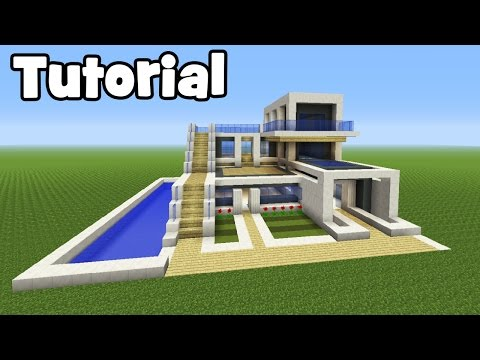 Minecraft Tutorial: How To Make A Big Modern House
