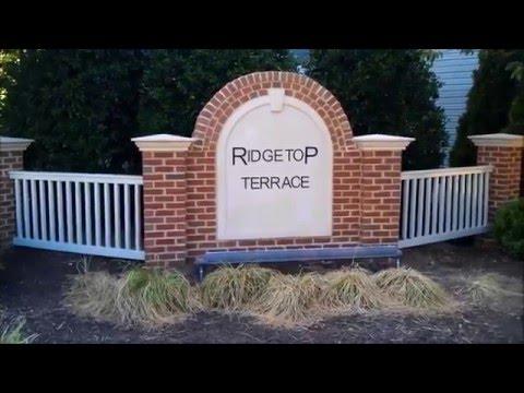 Brick HOA Community Entrance Sign in Fairfax, VA
