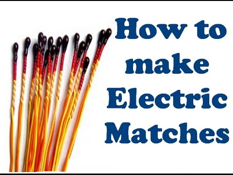 How to make an easy electric igniter (How to make Electric Matches)