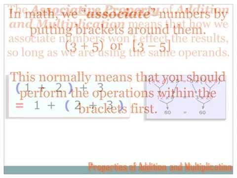 Algebra   Commutative and Associative Properties
