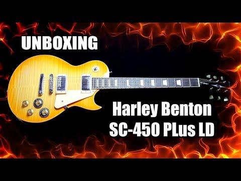 Unboxing Harley Benton SC-450 Plus LD (Greeny Moore 3?)