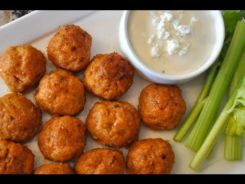 Healthy Buffalo Chicken Meatballs