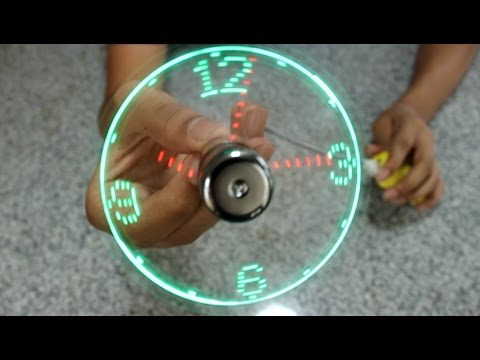 USB led clock Fan  unboxing and review - INDIAN ALPHA