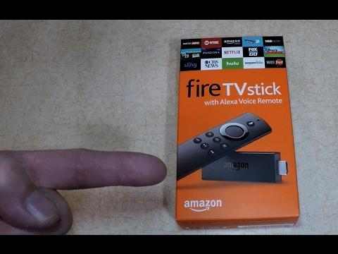 Amazon Fire Stick w Alexa UnBoxing Setup + Review
