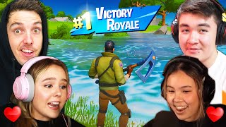FORTNITE with our GIRLFRIENDS (very cute)