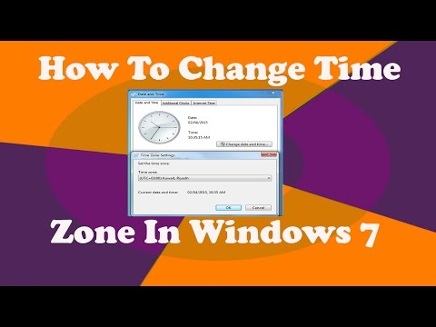 How to Change Time Zone in Windows 7