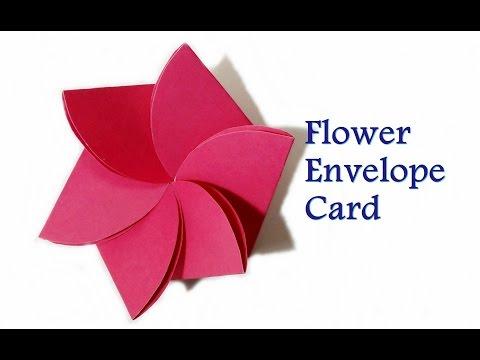 How to Make- Flower Envelope || Flower Card || Pop up Birthday Card || Craftastic