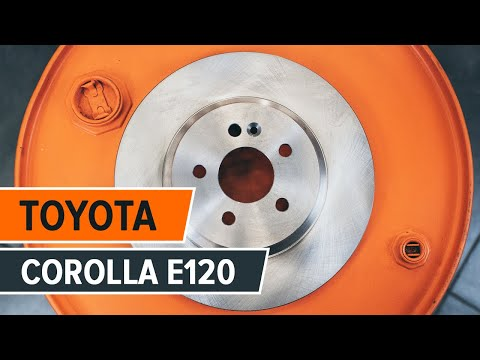 How to replace rear brake discs and rear brake pads on TOYOTA COROLLA E120 TUTORIAL | AUTODOC