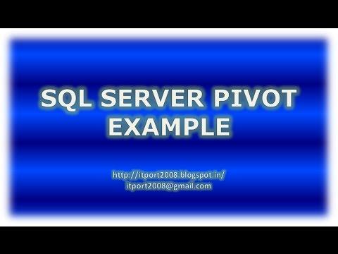 SQL Server Pivot with Example