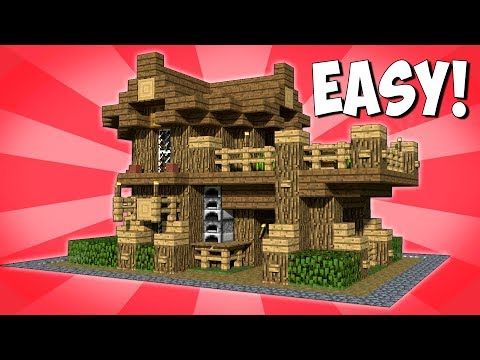 EASY AND COMPACT SURVIVAL HOUSE! HOW TO MAKE A WOODEN HOUSE IN MINECRAFT! [MINECRAFT TUTORIAL] 2018