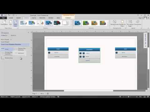 Data Modeling in Visio 2013