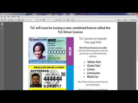 New TLC Driver License