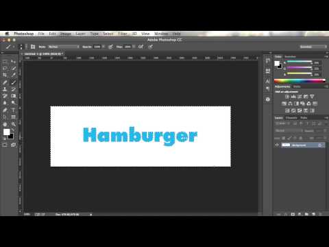 Making transparent text in Photoshop CC