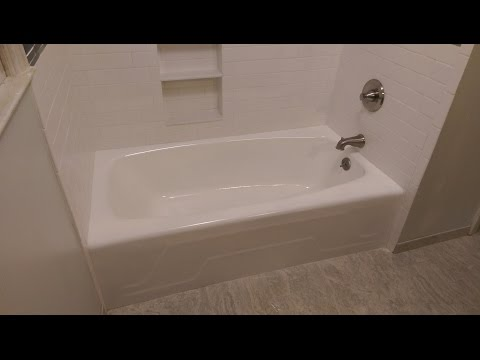 How to refinish a cast iron tub