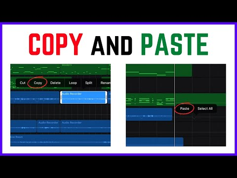 Copy and Paste - Powerful Editing in GarageBand iOS (iPhone/iPad) - GarageBand iOS Quick Tip