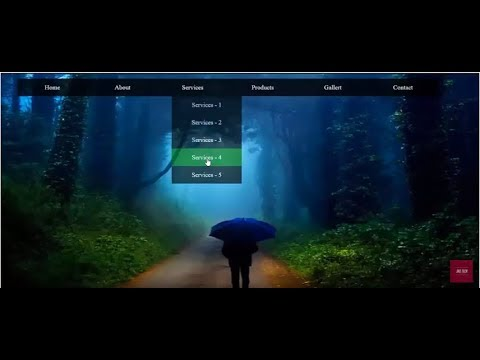 How To Create Transparent Drop down menu in Html and Css   Html dropdown with transparent background