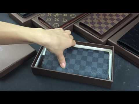 louis vuitton brazza wallet real leather genunie